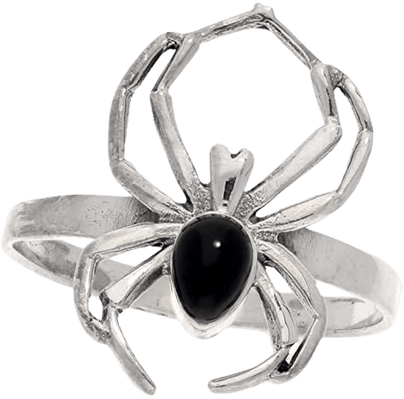 Black Widow Spider Sterling Silver Ring