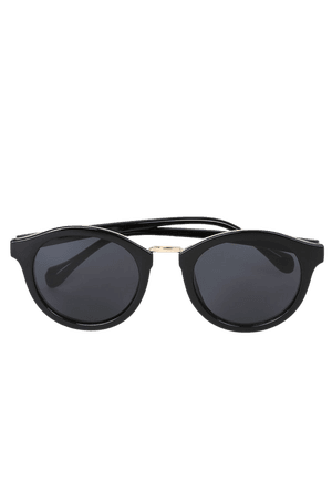 Cute Black Sunglasses - Mirrored Sunnies - Black and Gold Sunnies - Lulus