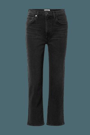 Wilder Mid-rise Straight-leg Jeans - Black