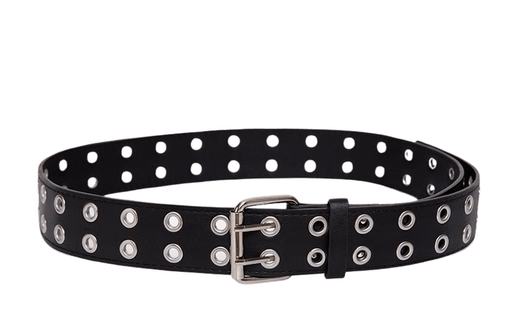 Leather Effect Double Eyelet Belt | Belt – motelrocks-com-us