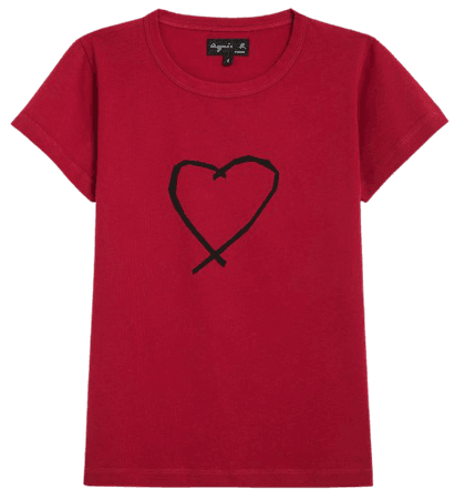 dark red Sarajevo heart Brando t-shirt
