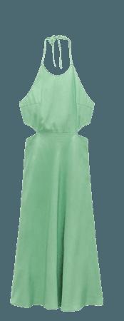 CUT OUT LINEN BLEND DRESS   ZARA United States