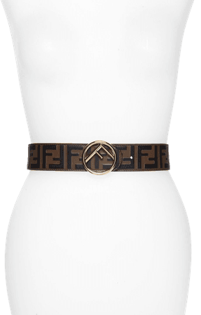 FF Embossed Leather Belt