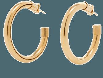 Gold-Tone Metal Hoop Earrings By Brandon Maxwell | Moda Operandi