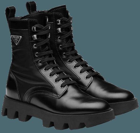Black Prada Combat Boots