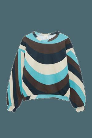 Wavy sweatshirt - pull&bear