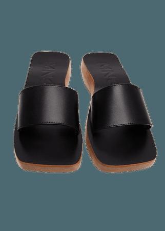 Asymmetric leather sandals - Women | Mango USA