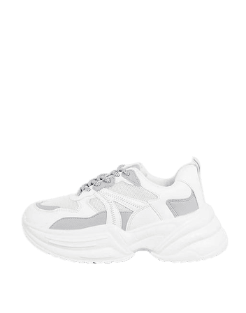 Topshop City Chunky Sneakers in White | ASOS