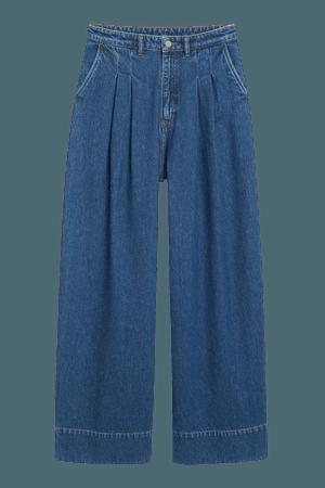 Nani palazzo jeans - Medium blue - Jeans - Monki WW