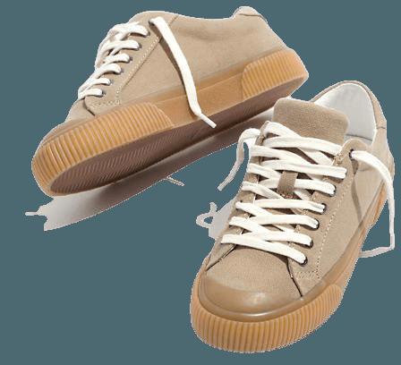 Sidewalk Low-Top Cap-Toe Sneakers in Recycled Canvas cream