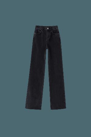 Straight-leg high-rise jeans - pull&bear
