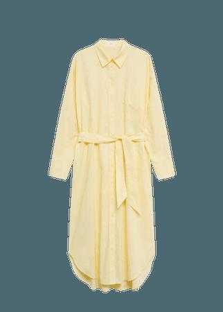 Cotton shirt dress - Women | Mango USA