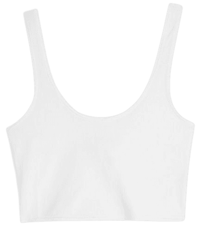 White Cropped Camisole Top | Topshop