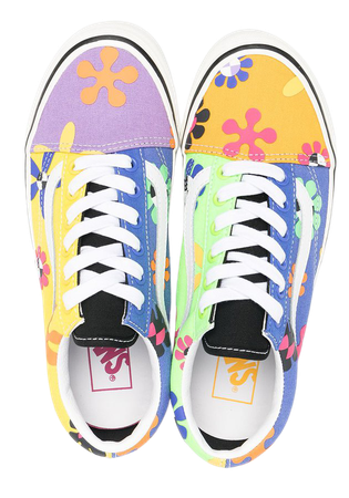 Shop purple & blue Vans Old Skool floral sneakers with Express Delivery - Farfetch