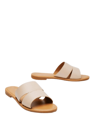 Faux Leather Cut Out Flat Mule Sandals | Nasty Gal