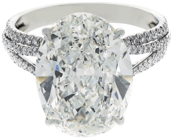GIA Certified 8.76 Carat Oval Kwiat Diamond Platinum Engagement Ring For Sale at 1stdibs