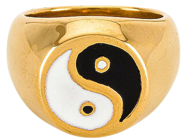 petit moments Ying Yang Ring in Gold | REVOLVE