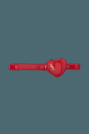 Red Coeur patent-leather belt bag | SAINT LAURENT | NET-A-PORTER