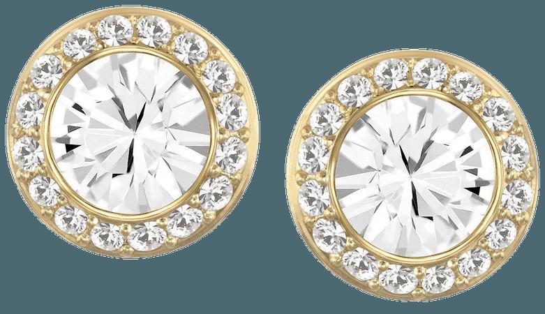 Swarovski Gold-Tone Crystal Stud Earrings & Reviews - Earrings - Jewelry & Watches - Macy's