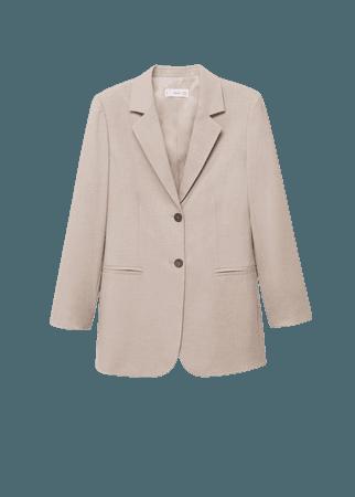 Patterned suit blazer - Women   Mango USA