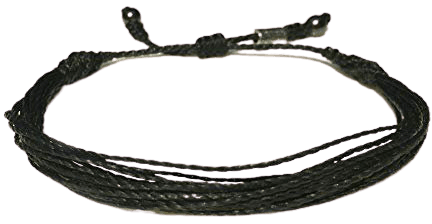 Amazon.com: RUMI SUMAQ Black Rope String Bracelet - Unisex Handmade Multistrand Pull Cord Adjustable Black Awareness Beach Bracelet for Men and Women with for 6-7.5 Inch Wrist: Handmade