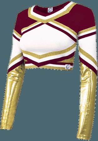 maroon cheer top