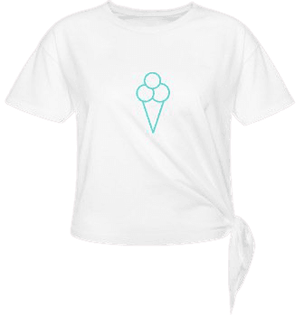 ShopLook Original ice cream Women's Knotted T-Shirt | Spreadshirt