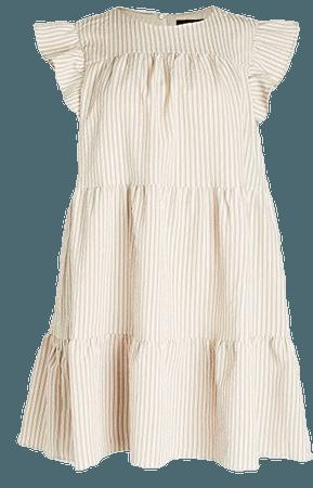 En Saison Striped Tiered Babydoll Dress   SHOPBOP