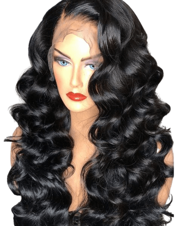 Wholesale Side Parting Long Loose Wave Lace Front Synthetic Wig Black Online. Cheap Front Slit Dress And Front Slit Skirt on Rosewholesale.com