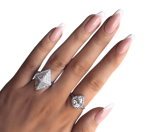 french tip nails long
