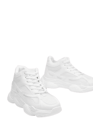 Run for It Chunky Mesh Trainers | Nasty Gal