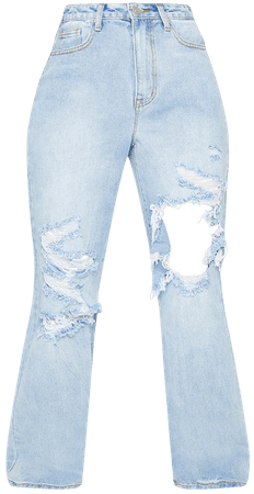 Vintage Wash Open Knee Distressed Boyfriend Jeans | PrettyLittleThing USA