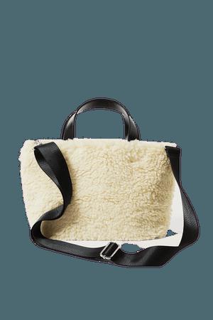 Mini Fur Bag - Off-White - Bags - Weekday GB