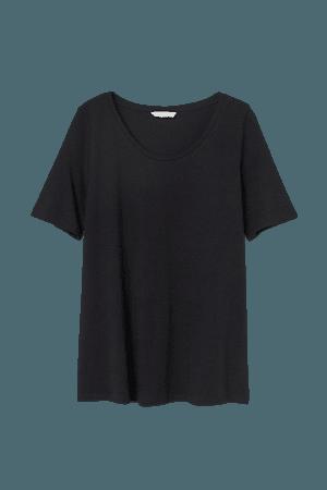 MAMA Cotton T-shirt - Black