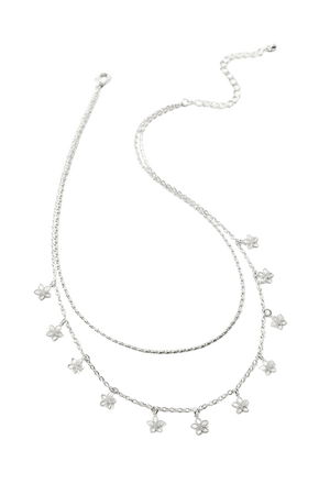 Delicate Flower Layer Necklace | Urban Outfitters