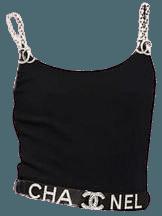 Chanel Black Crop Top