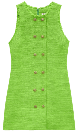 TEXTURED WEAVE DRESS WITH BUTTONS | ZARA United States