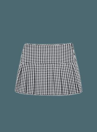 Plaid box pleat mini skirt - pull&bear