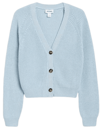 Ribbed cardigan - Blue - Cardigans - Monki WW