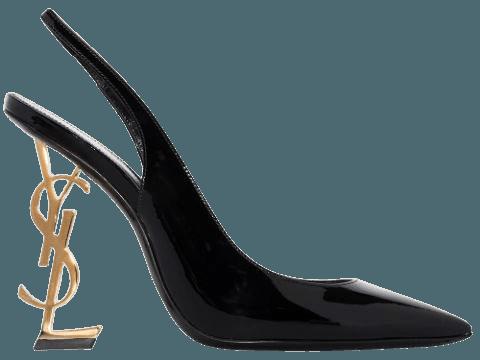 Black & gold Saint Laurent Opyum 110mm slingback pumps - Farfetch