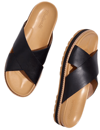 The Dayna Lugsole Slide Sandal in Leather