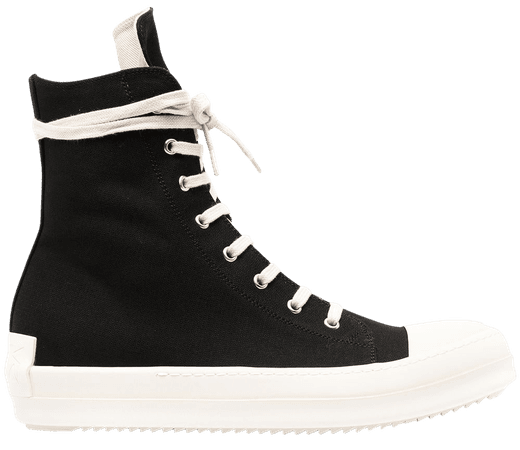 Shop black Rick Owens DRKSHDW lace-up sneakers with Express Delivery - Farfetch