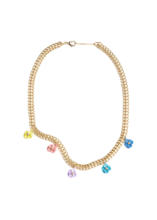 Mini Flower Pendant Chain Necklace - Gold - Necklaces - & Other Stories