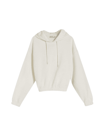 Drawstring hooded sweatshirt - Sweatshirts and hoodies - Woman | Bershka