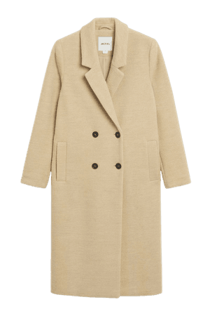 Classic double-breasted coat - Beige - Coats - Monki WW