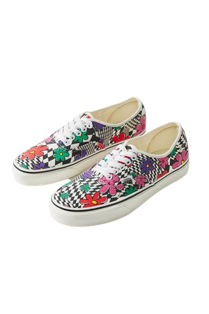 Vans Authentic Floral Checkerboard Sneaker | Urban Outfitters