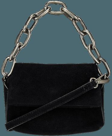 Free People Charlie Chain Crossbody in Black | REVOLVE