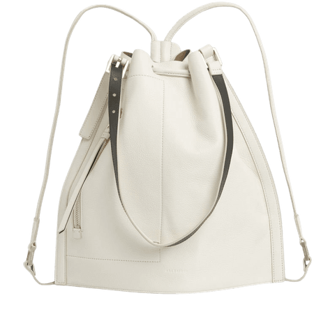 ALLSAINTS US: Womens Alpha Leather Backpack (roe_white)