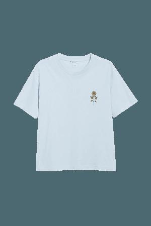 Cotton tee - Sunflower - T-shirts - Monki WW