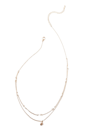 Atlas Delicate Stone Layer Necklace | Urban Outfitters
